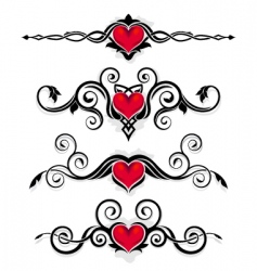 valentine ornaments vector image