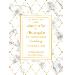 Wedding luxury invitation card vector