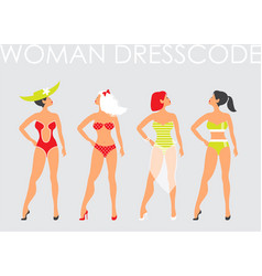 Women in swimsuit beautiful women in bathing vector