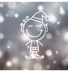 christmas angel on blurred backround vector image vector image