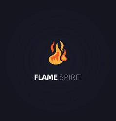 flame spirit logo template vector image