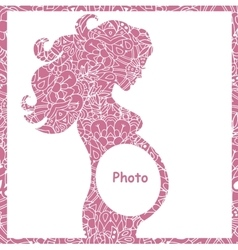 original of pregnant girl frame vector image vector image