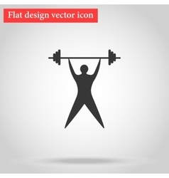 Young man athlete raises the bar vector image