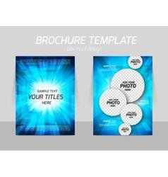 Bright flyer design vector image