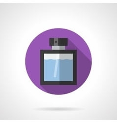 Cologne bottle flat color round icon vector image vector image