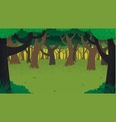 forest landscape vector image vector image