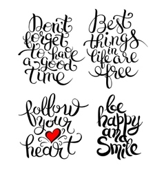 hand lettering inscription collection vector image