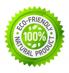 sign of ecofriendly product vector image vector image