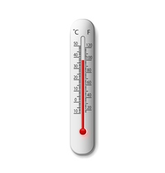 thermometer on a white vector image vector image
