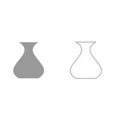 vase it is black icon vector image