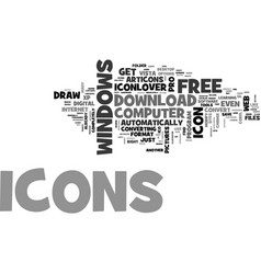 where do i claim my free icons text word cloud vector image vector image
