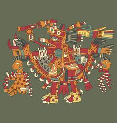 aztec gods vector image vector image