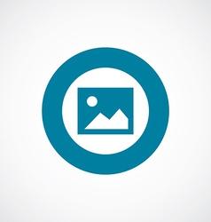 blank photo icon bold blue circle border vector image