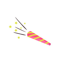 colorful party blower whistle or noisemaker vector image