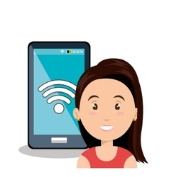 internet communication technology isolated icon vector image vector image