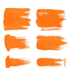 Orange brush strokes the perfect backdrop vector