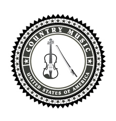 Vintage label country music vector image vector image