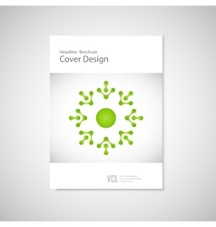 Classic brochure A4 with abstract figures Modern vector image vector image