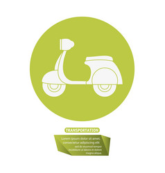 motorcycle delivery service transport pictogram vector image