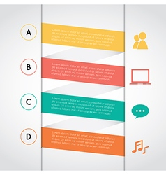 Set of colored rectangle infographic vector image vector image