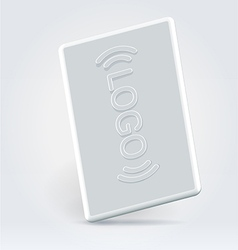 White security pass card vector image vector image