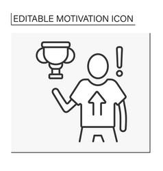 Achievement motivation line icon vector