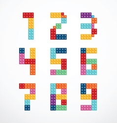 Alphabet blocks style set vector