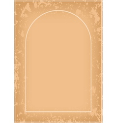 arch frame with grunge pattern vector image