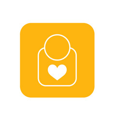 Bib flat color icon baby items for newborns vector