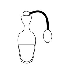 Bottle of perfume or essence aroma spa care vector