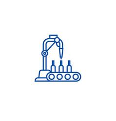 bottling line line icon concept bottling line vector image
