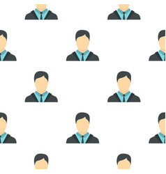 businessman pattern flat vector image