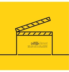 Clapper board vector