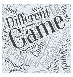 Computer game programming Word Cloud Concept vector