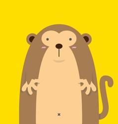 cute big fat monkey vector image