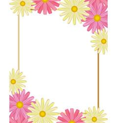 cute flowers cartoon vector image
