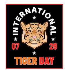 day tiger 0019 vector image