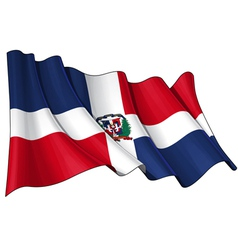 Dominican Republic Flag vector image