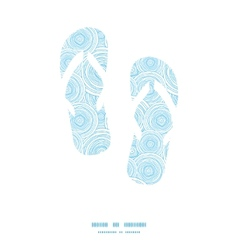 Doodle circle water texture flip flops silhouettes vector