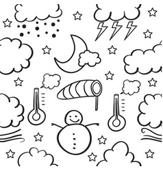 Doodle of weather design vector