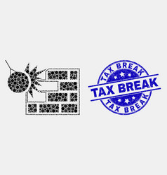 dotted crush wall icon and distress tax vector image
