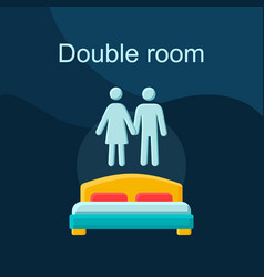 double room flat concept icon vector image
