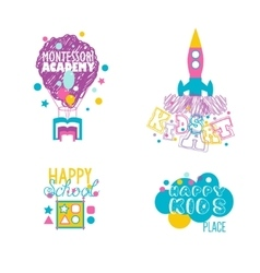 Early educational kindergarten school art vector image