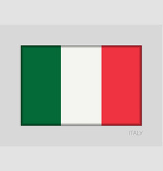 Flag of italy national ensign aspect ratio 2 to 3 vector