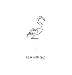 Flamingo outline icon vector