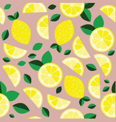 fresh lemons background hand drawn overlapping vector image