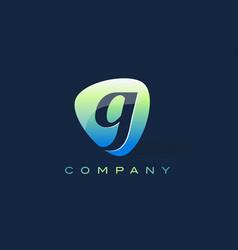 G letter logo oval shape modern design vector