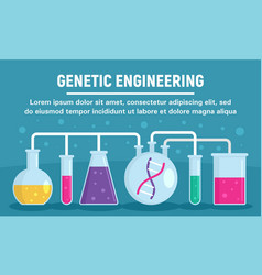 genetic engineering glass pots concept banner vector image
