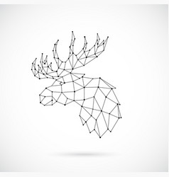 geometric moose silhouette image of moose vector image
