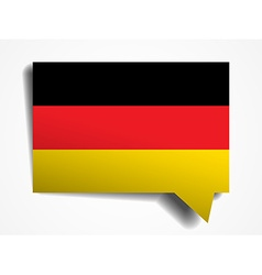 Germany paper 3d realistic speech bubble on white vector